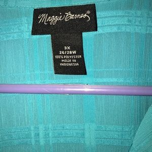 Teal 3x women's blouse. Gently worn.